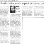 2016_7_21 33. Lewis Column 07-21-16  Institutional Scientific Misconduct at USGS Lab