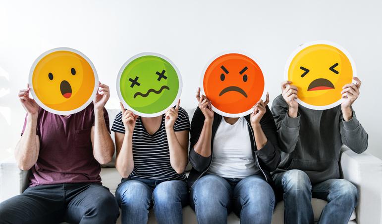 Chronic Stress shown via 4 emojis