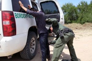 Border Patrol arrests immigrant in the Rio Grande Valley, Texas, in 2015.